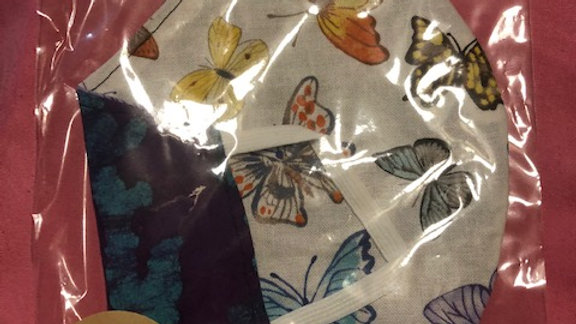 Butterfly Print / Purple and Blue