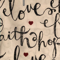 Faith, Hope, Love - Black and White