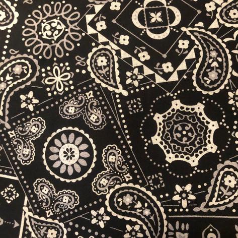 Black and Whie Handkerchief Pattern