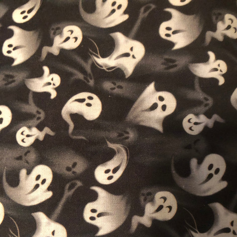 Ghosts in Grey and White on Black