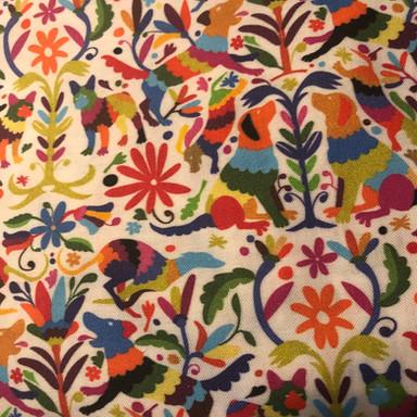 Dog Otomi Multicolor Print