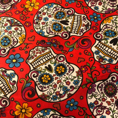 Sugar Skulls on Red