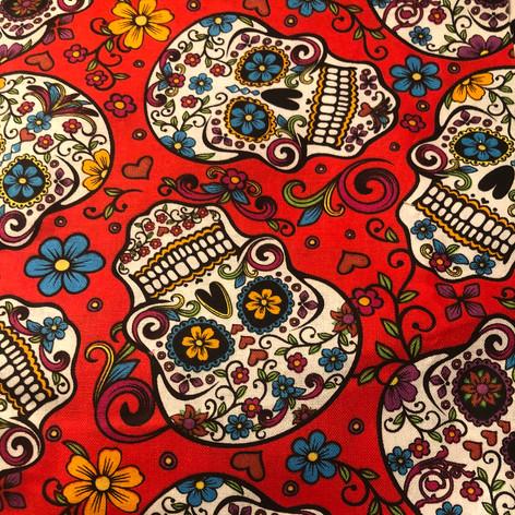 Sugar Skulls on Red