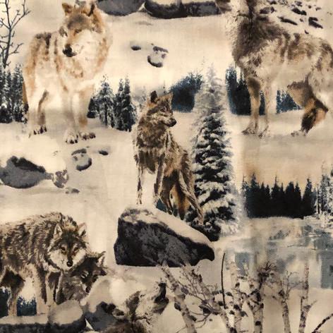 Wolves on White