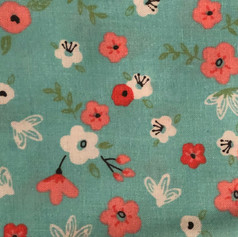 Flowers on Teal