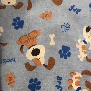 Brown Puppies on Blue