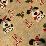 Puppy Candy Cane Christmas