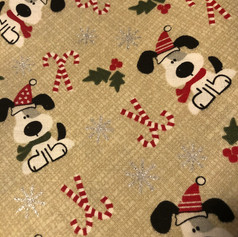 Puppies Candy Cane Christmas