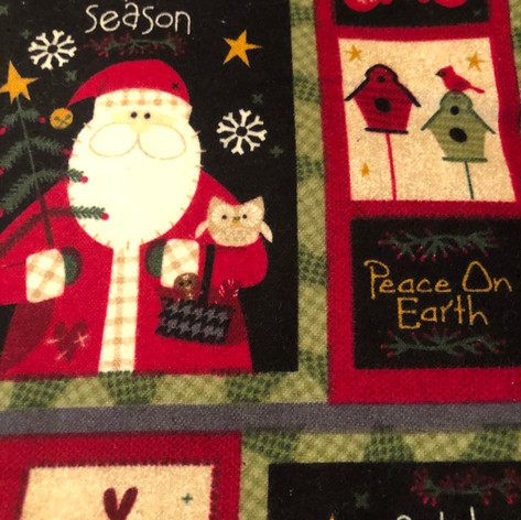 Santa Celebrate the Season Patchwork