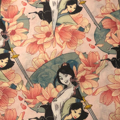 Mulan with Sword and Flowers