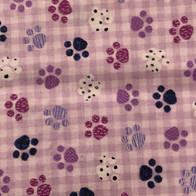 Shades of Purple Paw Prints