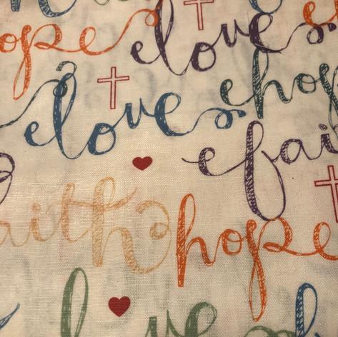 Faith, Hope, Love in Color
