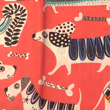 Dogs and Bones On Pink