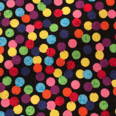 Brightly Colored Polka Dots