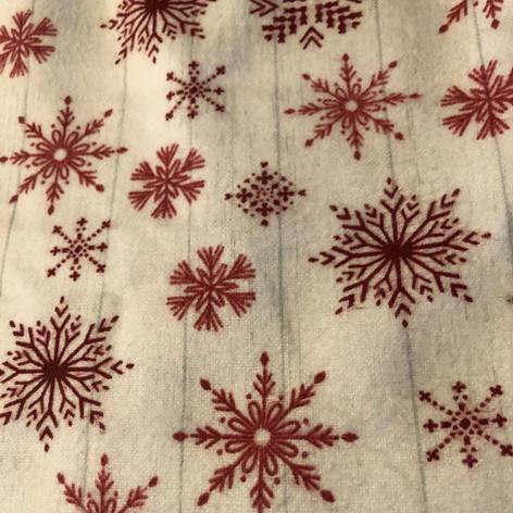 Red Snowflakes on White