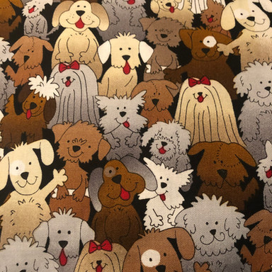 Cute Dogs in a Crowd