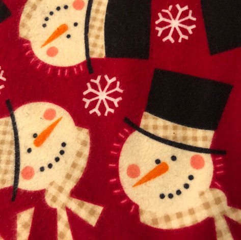 Snowman Faces - Red