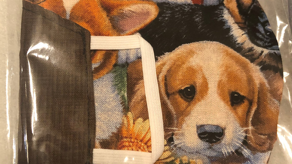 Cute Puppies/Brown Pattern