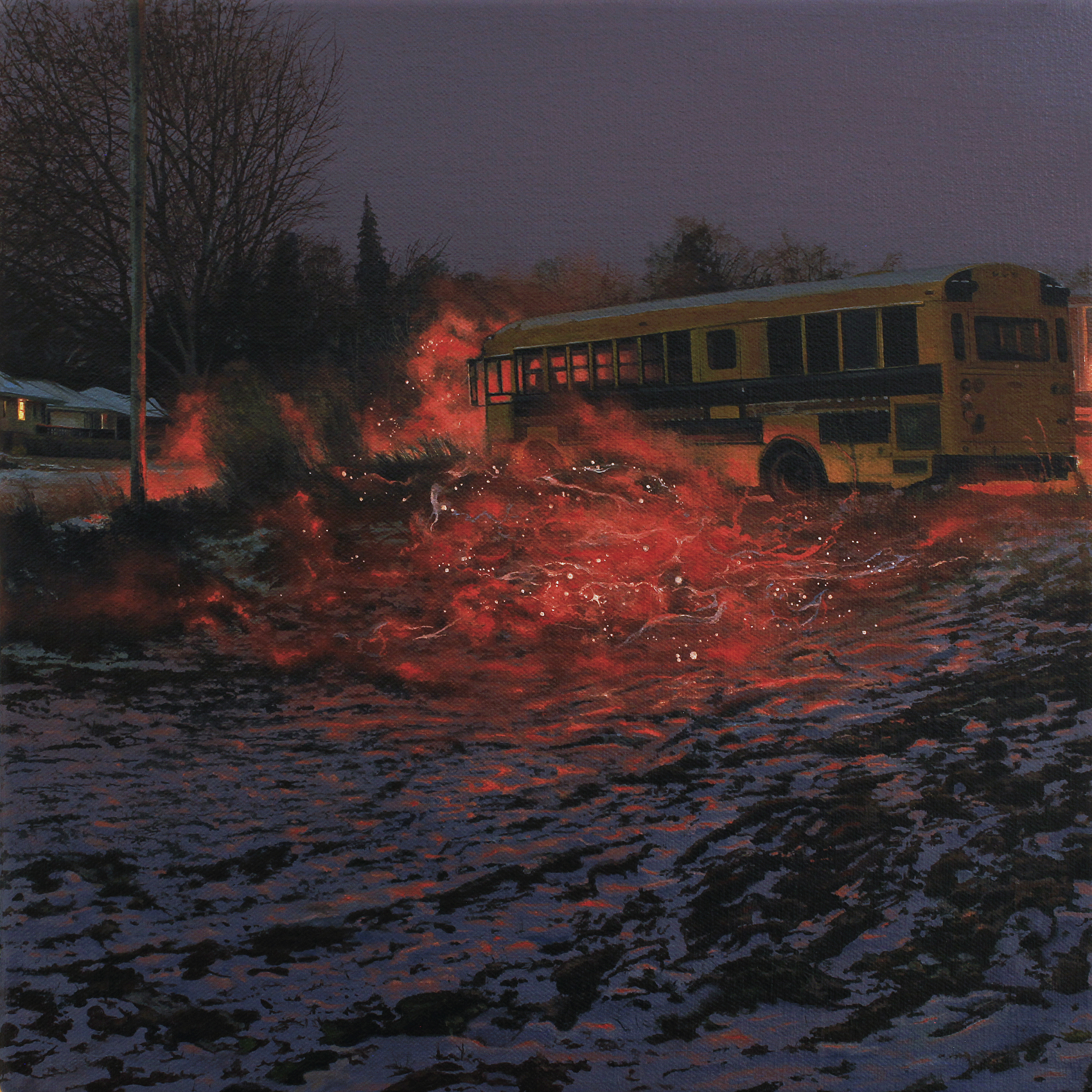 "Nate Burbeck, ""Apparition (School Bus)"""