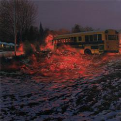 "Nate Burbeck, ""Apparition (School Bus)"""