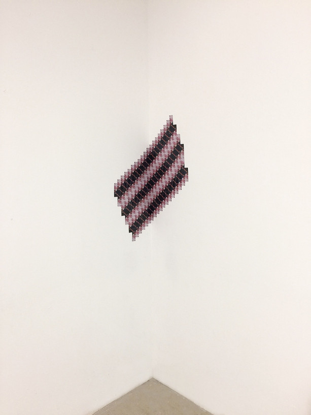 Kathleen Granados, Blindsided, 2017, Wallet-sized photographs, dimensions variable