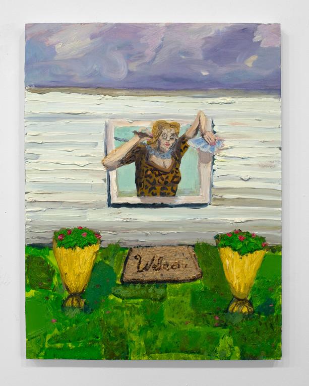 """Alyssa Thornton, Stay, 2018, Oil on panel, 18""""x14"""""""