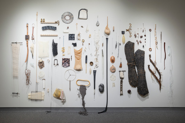"Sophia Ruppert, Nokomis Fragments, 2019-ongoing, 156x97x7"", found and altered objects"