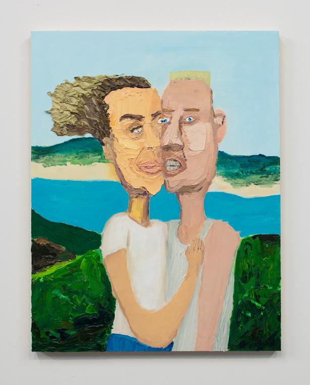 """Alyssa Thornton, Fusion, 2019, Oil on panel, 18""""x14"""""""