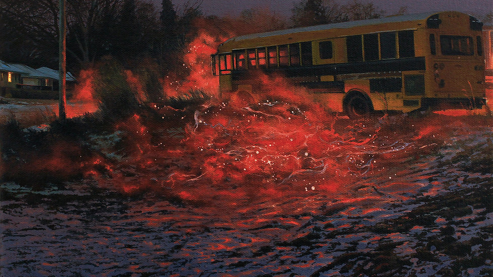 "Nate Burbeck, ""Apparition (School Bus),"" 2019"