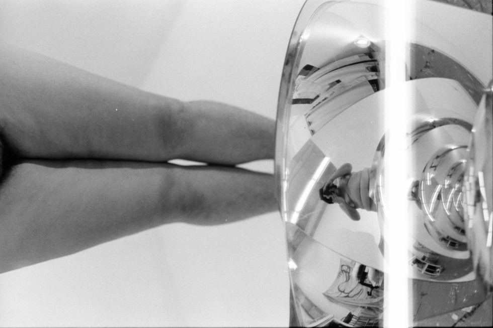 Jess Saldaña, dome nude, 2020, 31 scan of analog negative (size subject to space)