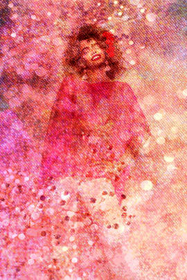 "Bubblegum, Manipulated Digital Photography, 12x18"""