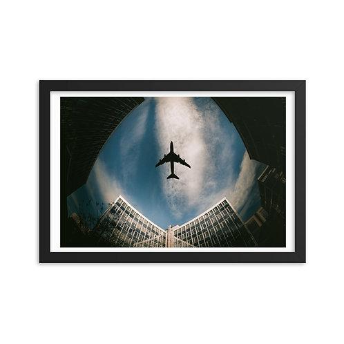 'Directly Above' Framed poster