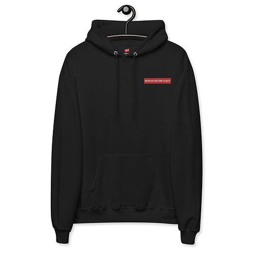 'Remove Before Flight' Embodied Unisex fleece hoodie
