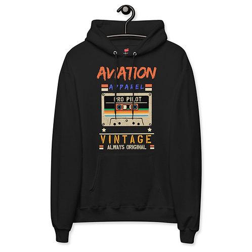 'Aviation Vintage' Unisex fleece hoodie