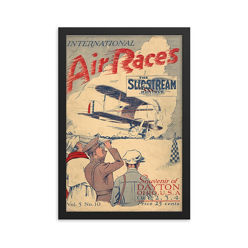 'Air Races' Framed poster