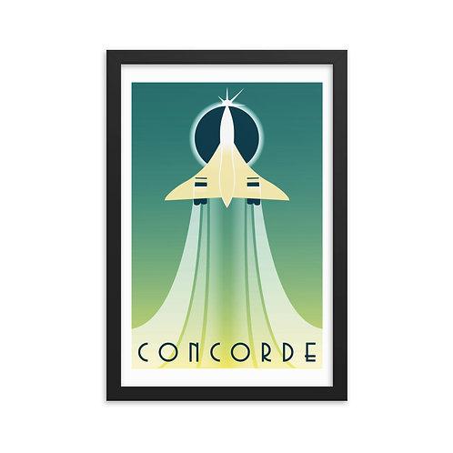'Concorde' Framed poster
