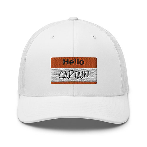 'Hello Captain' Trucker Cap