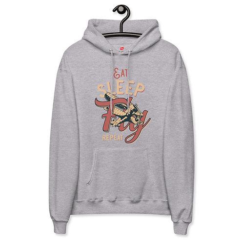 'Eat, Sleep, Fly' Unisex fleece hoodie