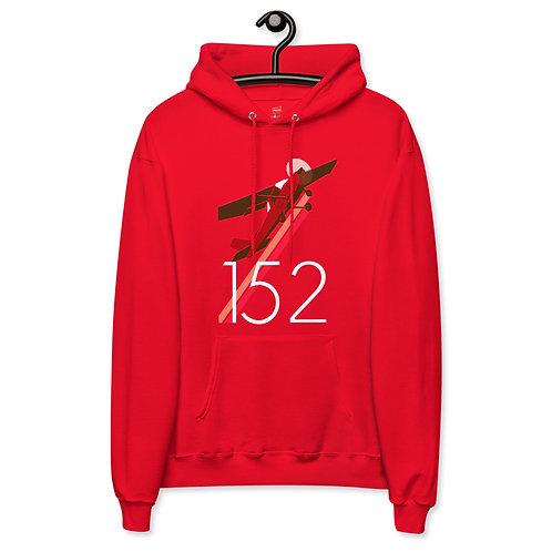 'Cessna 152' Red Unisex fleece hoodie