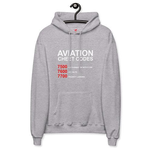 'Aviation Cheat Codes' Unisex fleece hoodie