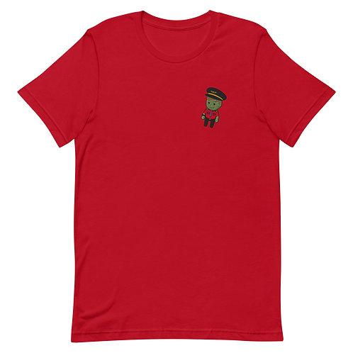 Mini Martian Captain Embroidered Short-Sleeve Unisex T-Shirt