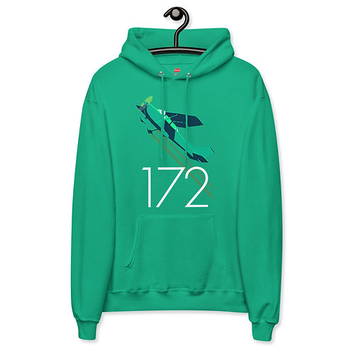 'Cessna 172' Mint Green Unisex fleece hoodie