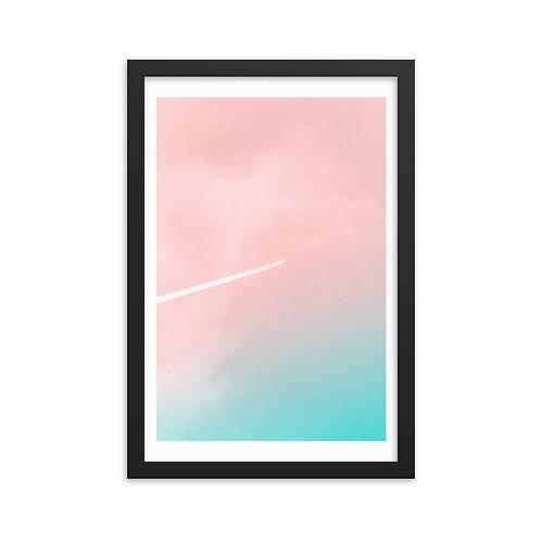 'Hue Sky' Framed poster