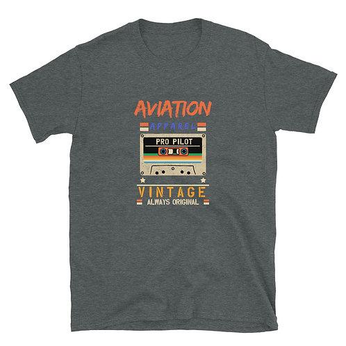 Vintage Casette Aviation Apparel  Unisex T-Shirt