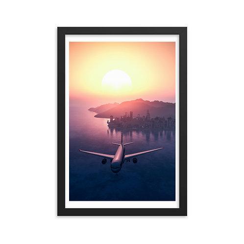 'Sunset Sky' Framed poster