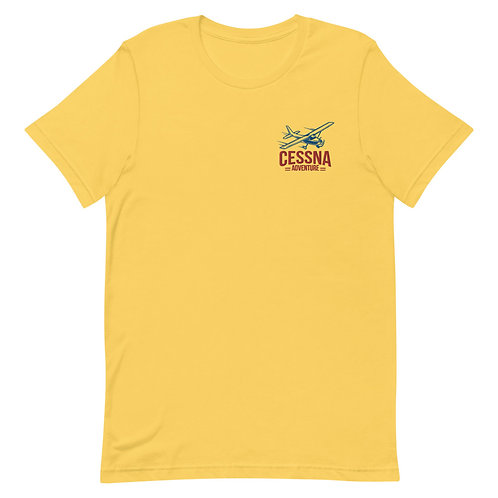 'The Cessna Adventure' Embroidered  Unisex T-Shirt