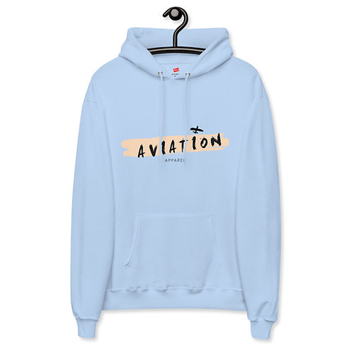 'Brush Stroke' Unisex fleece hoodie