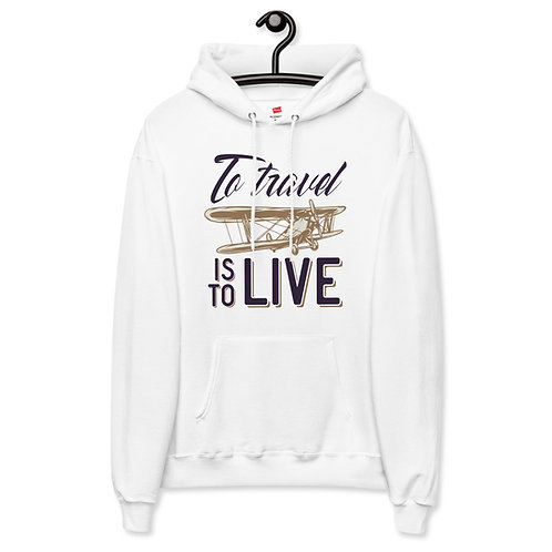 'To Travel' Unisex fleece hoodie
