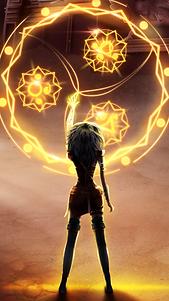 Thalia is doing magic to bring back the memories of Librium.