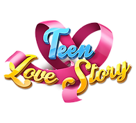 Teen Love Story Games logo on the white background.